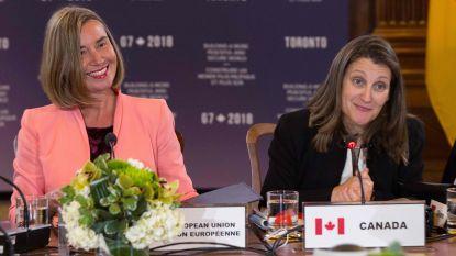 EU en Canada organiseren top van vrouwelijk buitenlandministers