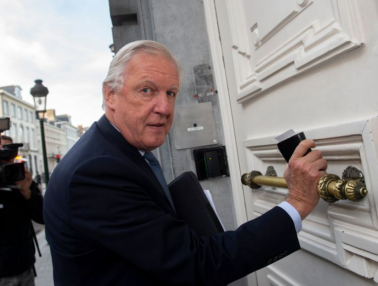 Ontslagnemend pensioenminister Daniel Bacquelaine (MR). Beeld Photo News