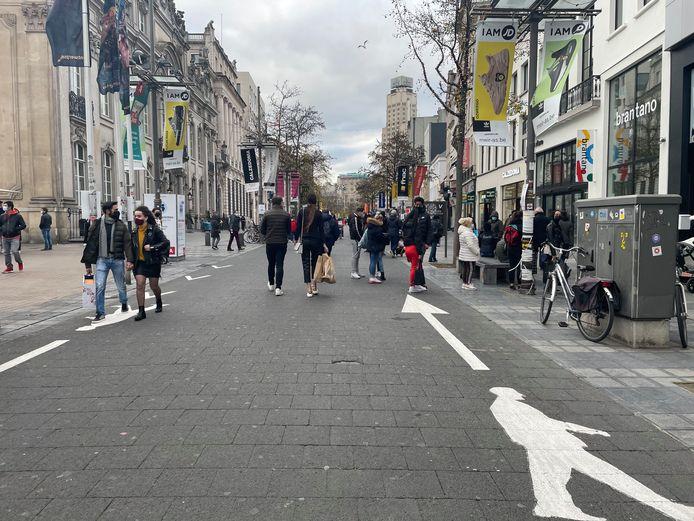 De Meir in Antwerpen op zaterdagmiddag.
