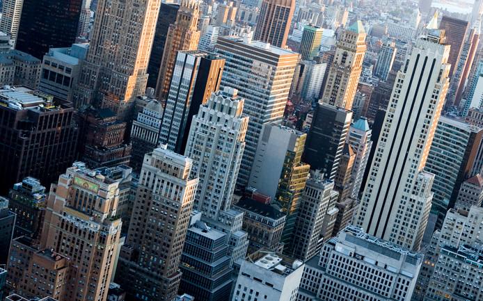 Uitzicht over NY gezien vanaf The Rockefeller Center.
