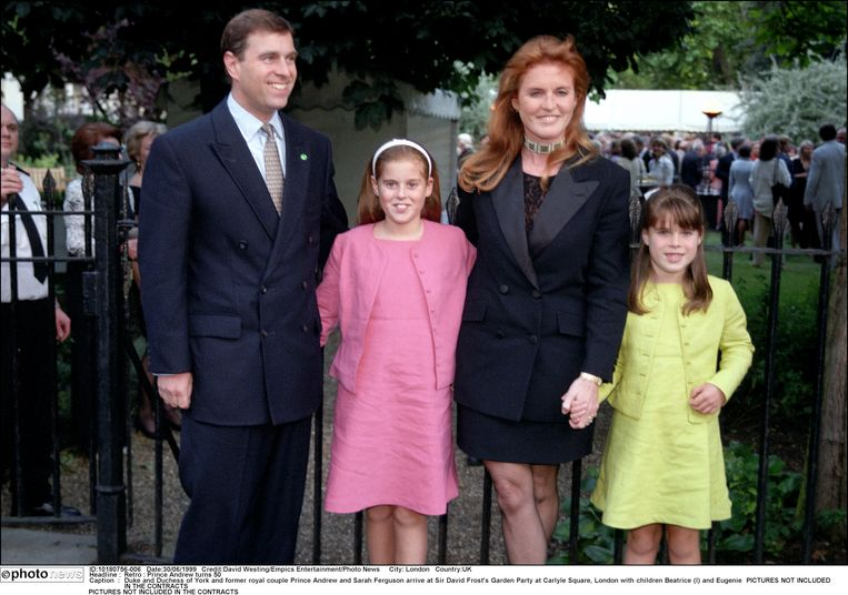 Eugenie met ouders Andrew en Sarah