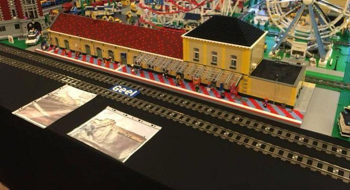 Het station van Geel nagemaakt in Lego.