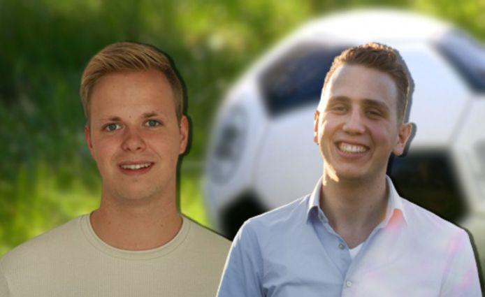Hessel van der Wal en Sander Kruitbos maken wekelijks een podcast over het amateurvoetbal op de Noord-Veluwe.