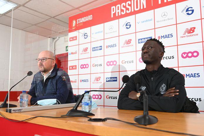 Le CEO Alexandre Grosjean et le coach Mbaye Leye