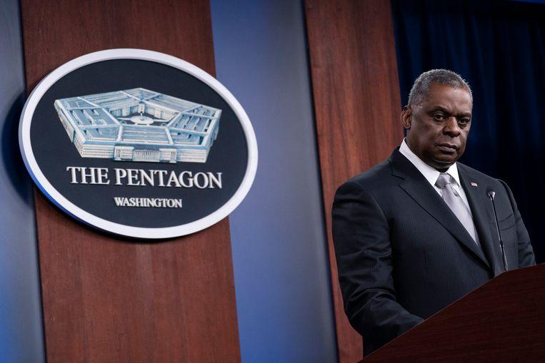 De Amerikaanse minister van Defensie Lloyd Austin  Beeld AP