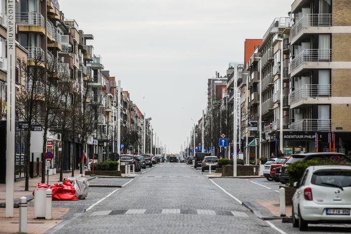De Albert I-laan in Nieuwpoort
