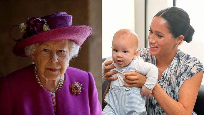 La reine Elizabeth II, Archie et Meghan Markle