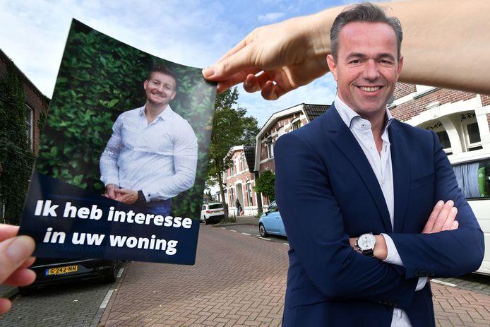 Investeerders gooien flyers in de brievenbus van huiseigenaren met een aanbod.
