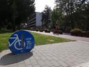 Aan de Parklaan werd ook een gratis fietspomp geplaatst.