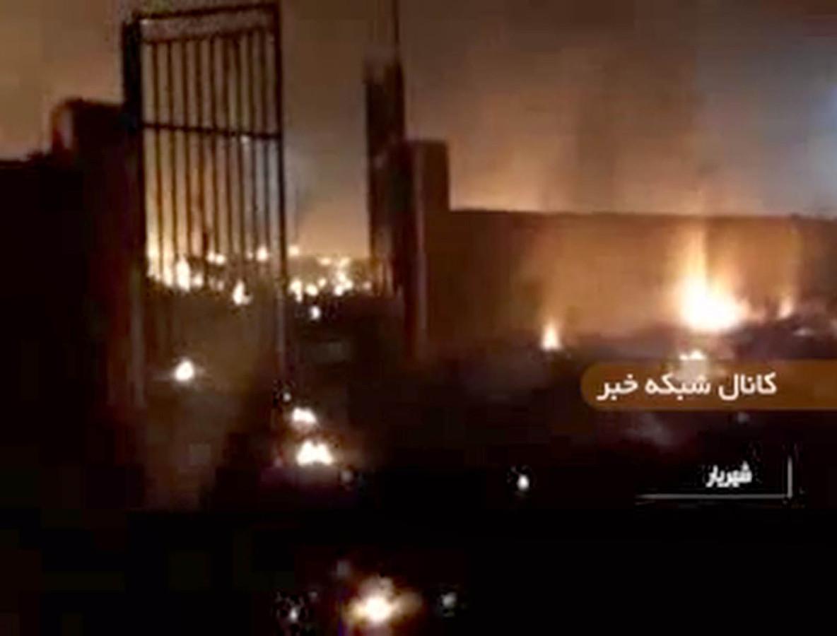 Capture d'écran de l'incendie après le crash d'un Boeing ukrainien en Iran (Photo by - / IRINN / AFP)