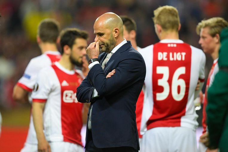 Het Europese seizoen van Ajax eindigde woensdagavond met verlies in de Europa League-finale Beeld ANP