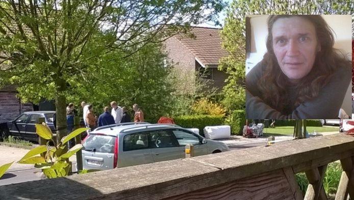 28 april 2015: politie en parket doen onderzoek in de woning in Gits. Inzet: mededader Olaf Philippaerts.