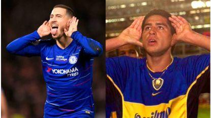 Eden Hazard eert idool en inspiratiebron Riquelme