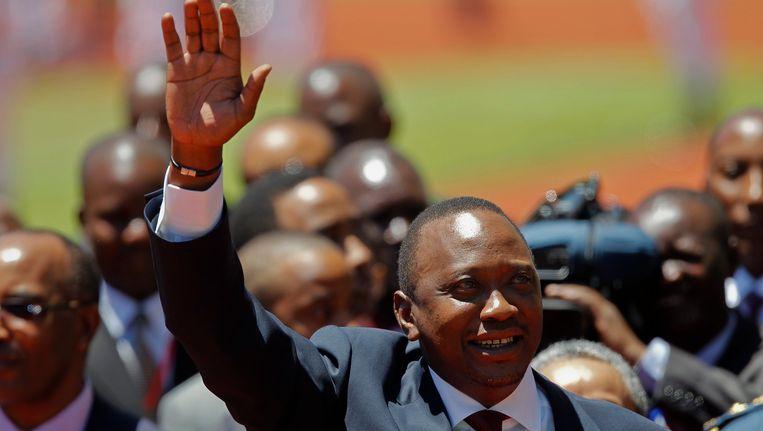 De Keniaanse president Uhuru Kenyatta Beeld EPA