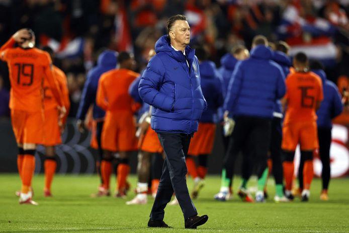 Louis van Gaal was tevreden over het spel van zijn ploeg tegen Gibraltar.