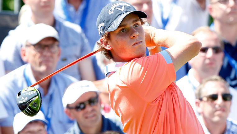 Thomas Pieters is niet goed op dreef in het Italiaanse Turijn en dat laat zich gevoelen in de stand van de Italian Open golf. Beeld BELGA