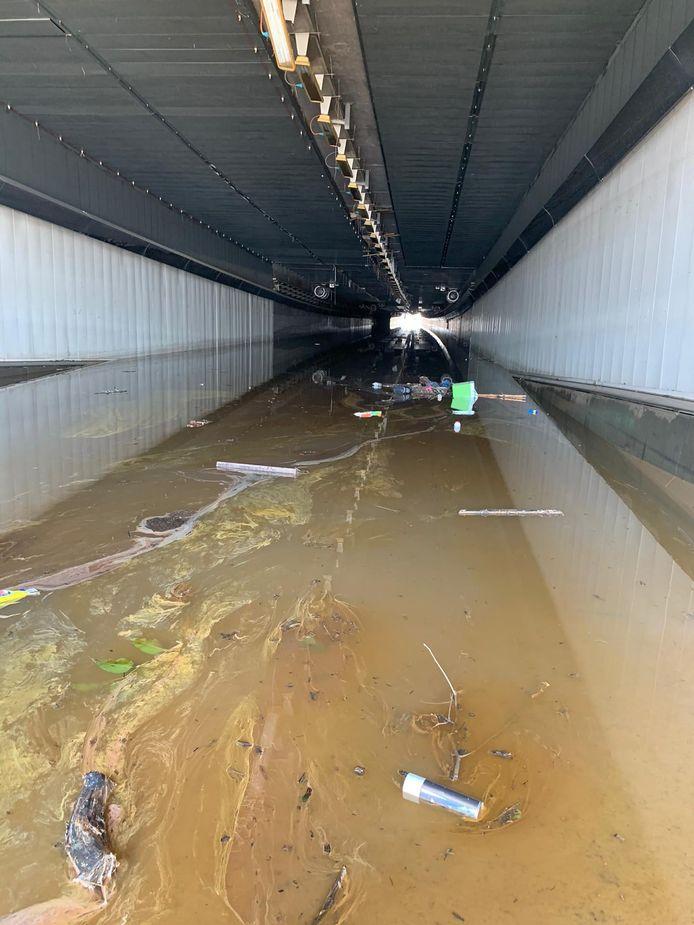 Les tunnels des Grosses Battes et de Kinkempois (Angleur) sont toujours sous eau, après les inondations des 14 et 15 juillet 2021.