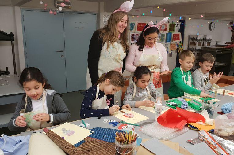 Deze  leerlingen trokken voor het project naar het Speelkaartenmuseum