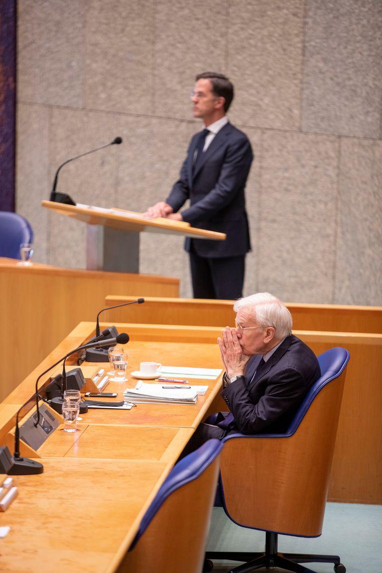 Rutte beloofde in het debat 'passioneel' te zullen werken aan een nieuwe bestuursstijl. Beeld Werry Crone