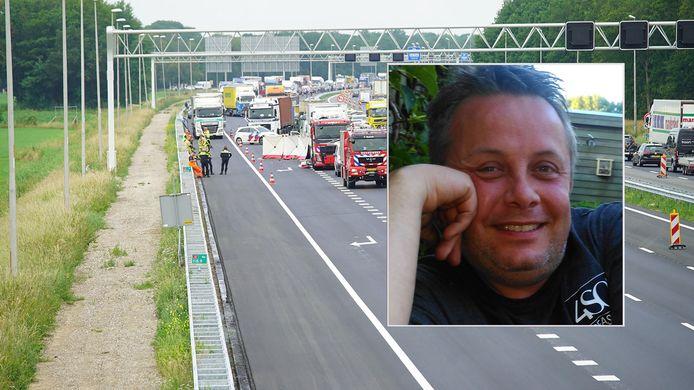 Nijmegenaar Jeroen Janssen overleed vorige week bij een ernstig ongeval op de snelweg A1 bij Holten.