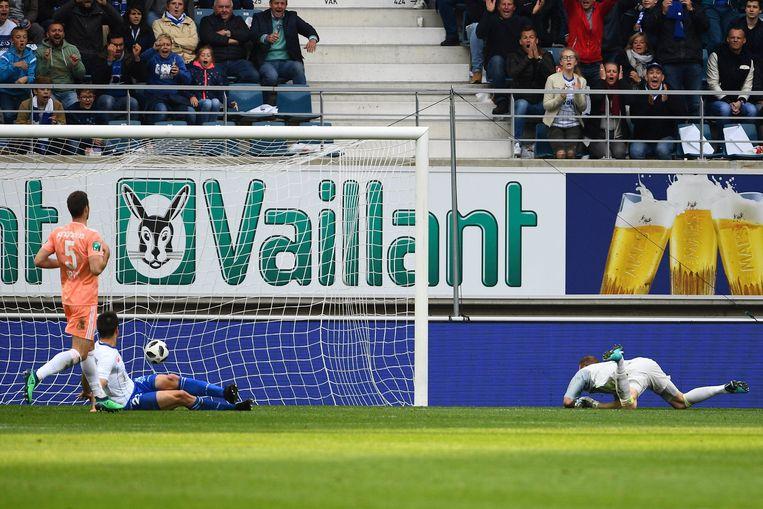 Simon heeft er in de Ghelemco Arena net 1-0 van gemaakt.