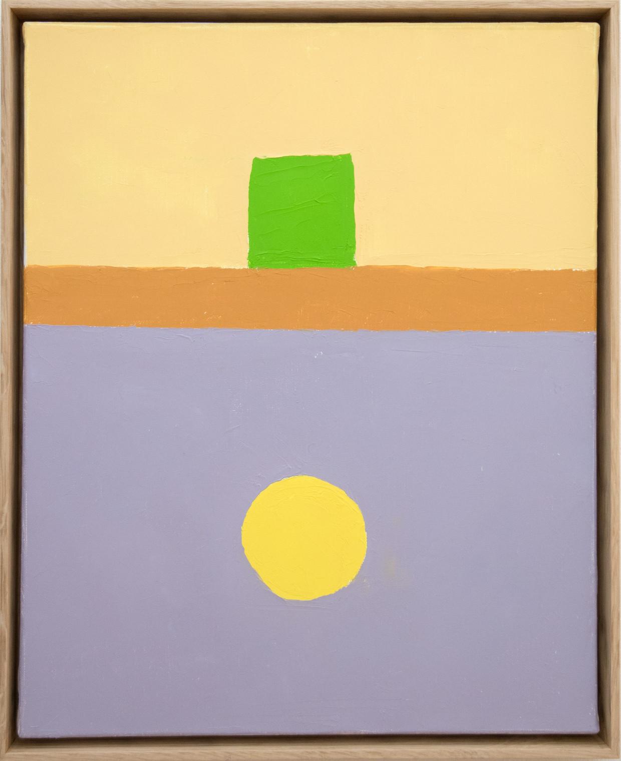 Etel Adnan, Untitled (2018) Beeld Sfeir-Semler Gallery Beirut/Hamburg