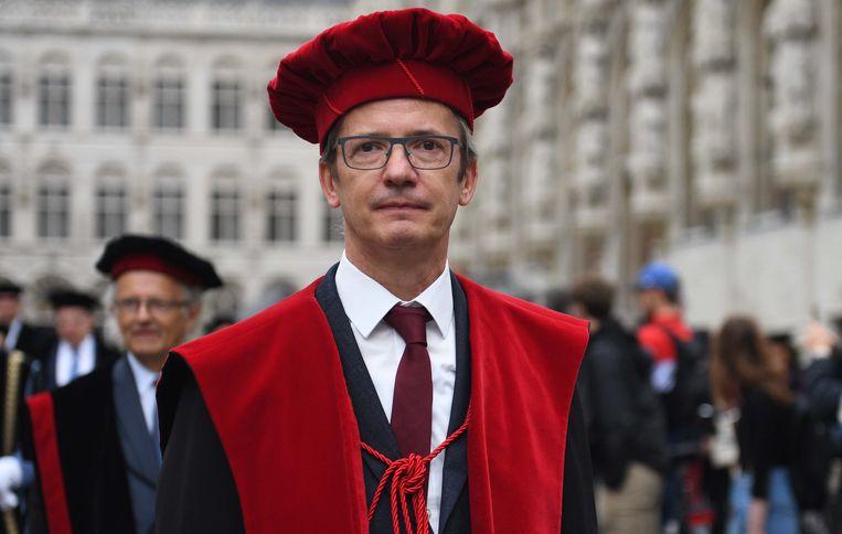 Rector Luc Sels tijdens de opening van het academiejaar in Leuven. Beeld Vertommen