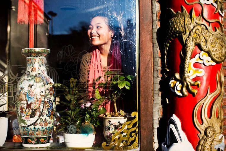 Lei Ye, een Chinese in Zelzate.