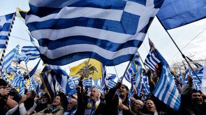 Grieken betogen in Athene tegen gebruik van naam Macedonië