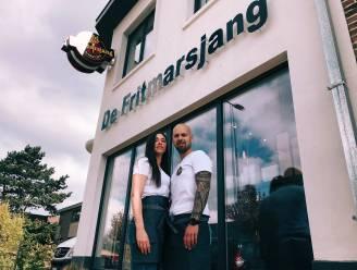 Eefje en Ewout openen 'De Fritmarsjang' in Erembodegem