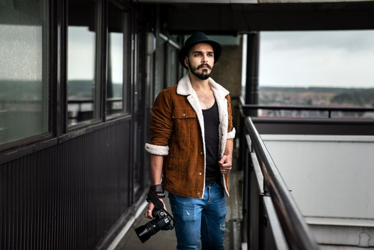 Fotograaf Mahmod Alkharat. Beeld Reyer Boxem