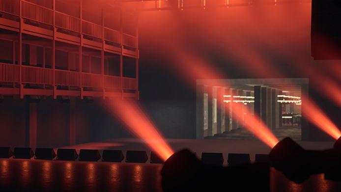 De toeschouwers zien de Brusselse rapper in een vertrouwde omgeving aan het werk.