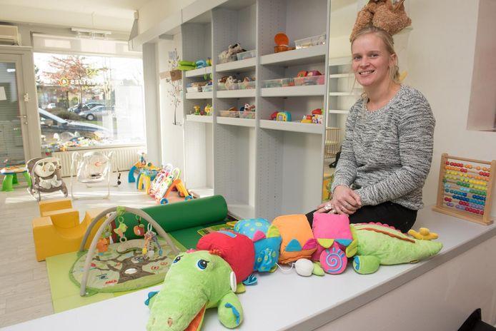 Elke Van Wymeersch in haar kinderdagverblijf Klavertje4.