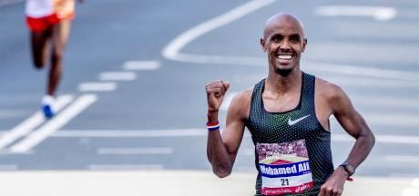 Mohamed Ali finisht als derde in eerste marathon