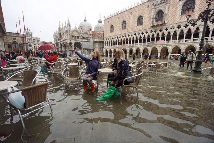 In Venetië staat het water je aan de voeten.