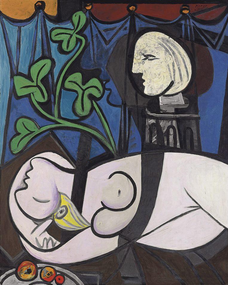 Nude, Green Leaves and Bust (Nu au Plateau de Sculpteur) uit 1932 van Pablo Picasso. Foto EPA Beeld EPA