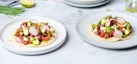 Wat Eten We Vandaag: Papadums met tonijntartaar