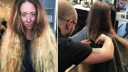 30 jaar lang liet ze haar haren groeien, maar speciaal voor haar huwelijk onderging ze weergaloze transformatie