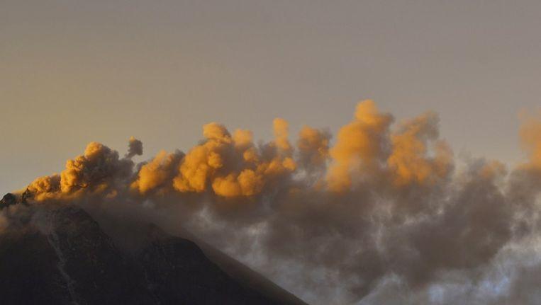 De actieve vulkaan Sinabung.