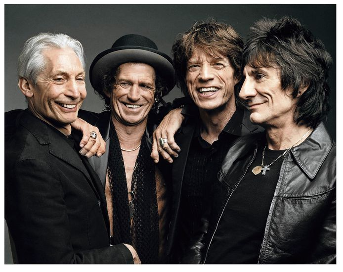 The Stones in 2005.