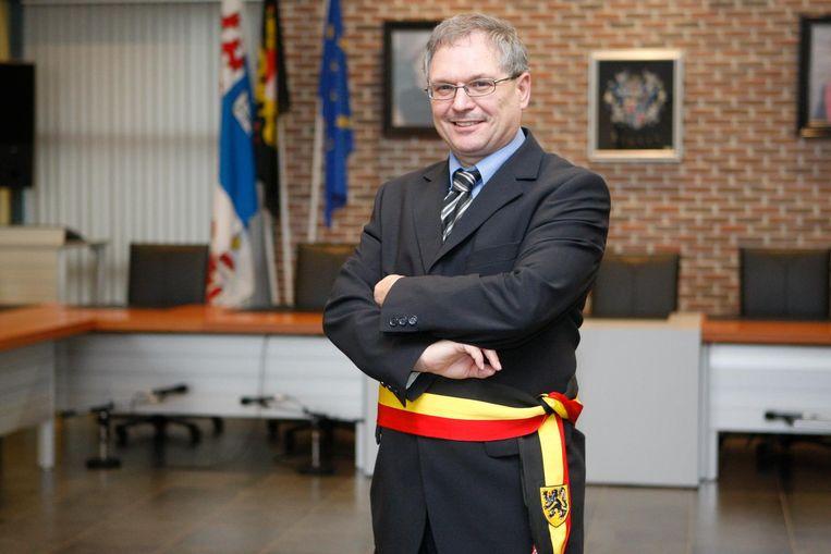 Marc Wijnants in het gemeentehuis van Linter