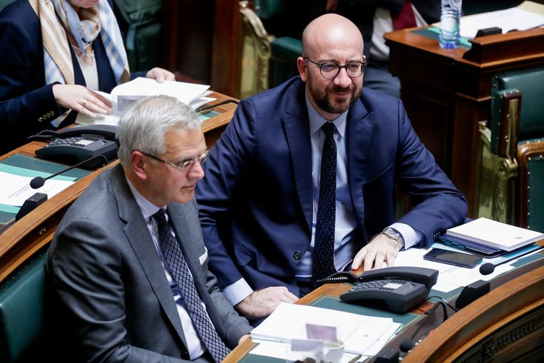CD&V-vicepremier Kris Peeters en MR-premier Charles Michel.
