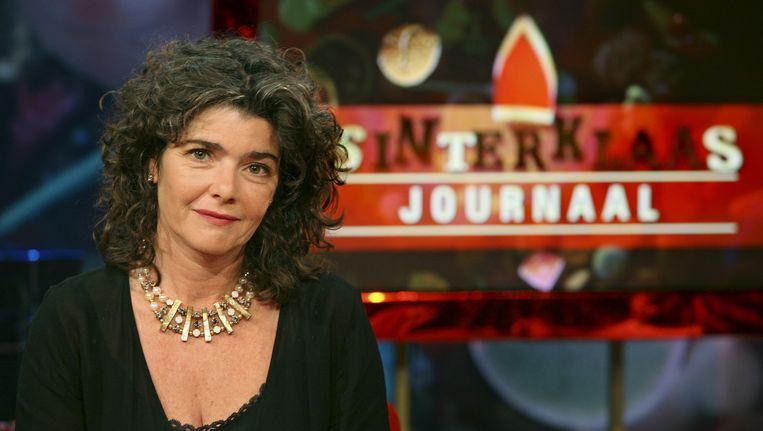 Het Sinterklaasjournaal met presentatrice Dieuwertje Blok. Beeld anp