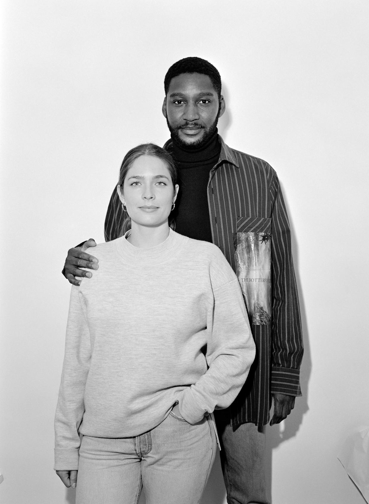 Rushemy Botter en Lisi Herrebrugh, oprichters van het modehuis Botter. Beeld Marleen Daniels