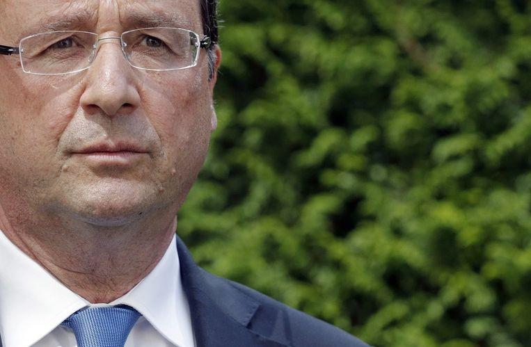 De Franse president Francois Hollande. Beeld afp