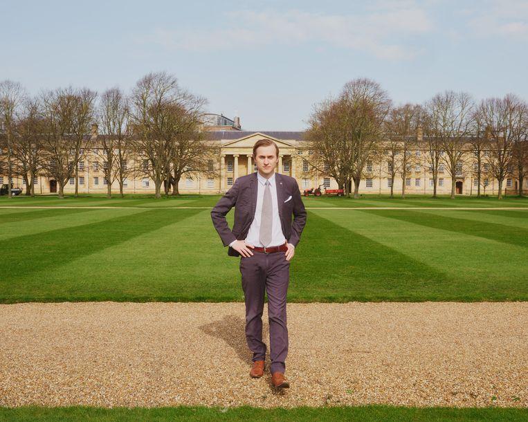 Rakoen Maertens in Cambridge: 'Eenmaal je iets gelooft, is het erg moeilijk om daar niet meer in te geloven.' Beeld Joe Hart