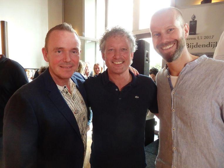 Oud Zilveren Ui-winnaars: Erik van Loo (Parkheuvel), Lucas Rive (voorheen De Bokkedoorns) en Sidney Schutte (Librije's zusje/Waldorf Astoria) Beeld Schuim