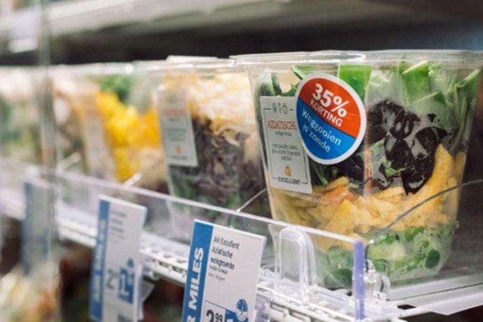 Een actie tegen voedselverspilling.