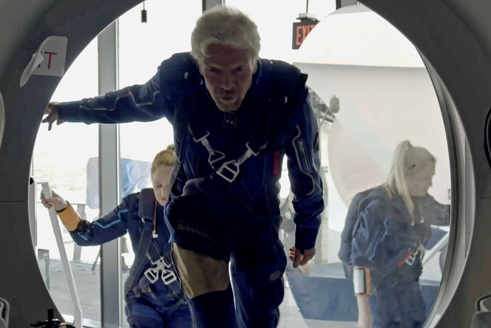Richard Branson est prêt pour le départ.
