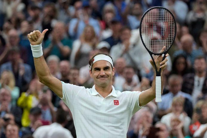 Federer heeft zich geplaatst voor de kwartfinales.